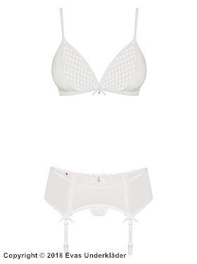 Romantiskt underklädesset i skir spets, 3 delar